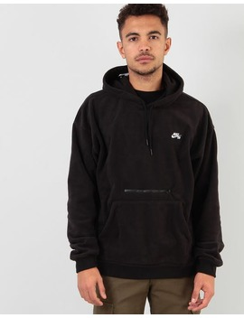 Nike Sb Novelty Fleece Pullover Hoodie   Black/White by Route One