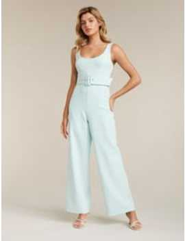 Didi Petite Belted Jumpsuit by Forever New