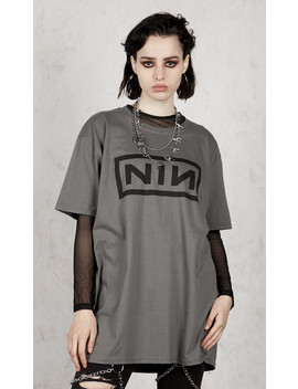 Nine Inch Nails   Classic Black Logo T Shirt by Disturbia
