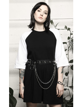 Ruth Baseball Dress by Disturbia
