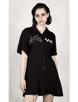 Out To Lunch Skater Dress by Disturbia