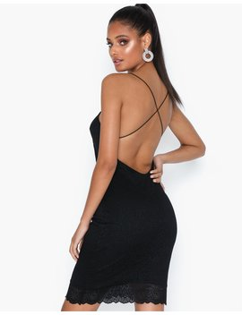 Cross Back Lace Dress by Nly Trend