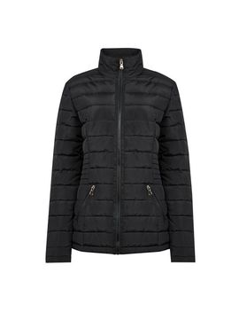 **Tall Black Sustainable Wadded Coat by Dorothy Perkins