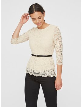 Kanten Top by Vero Moda