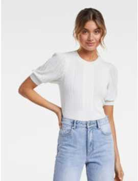 Gigi Short Sleeve Knit Tee by Forever New