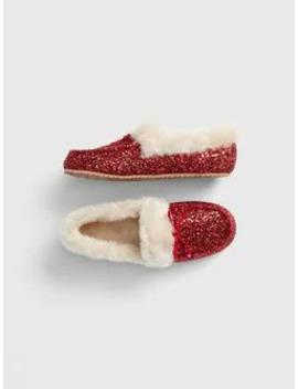 Kids Faux Fur Glitter Moccasins by Gap
