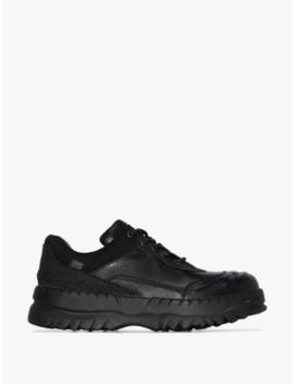 X Kiko Kostadinov Black Leather Sneaker Boots by Camper Lab