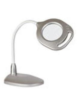 Ott Lite 2 In 1 Led Magnifier Floor & Table Lamp Silver                      Ott Lite 2 In 1 Led Magnifier Floor & Table Lamp Silver by Ottlite Lighting