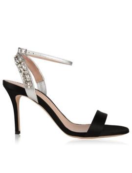 Crystal Embellished Heeled Sandals by Giuseppe Zanotti
