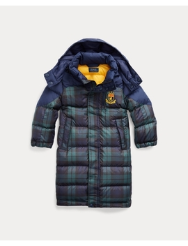 Tartan Down Hooded Coat by Ralph Lauren