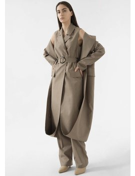 Pinstripe Double Layer Coat By Materiel Tbilisi by The Frankie Shop
