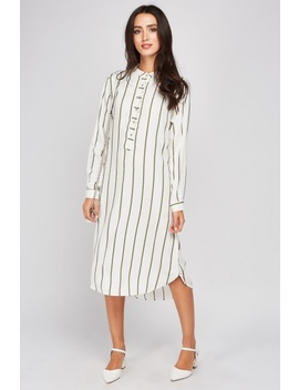 Curved Hem Stripe Shift Dress by Everything5 Pounds