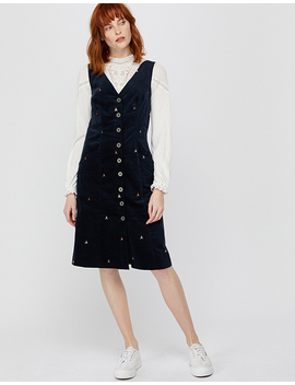 Elsie Embroidered Cord Dress by Monsoon
