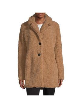 Liz Claiborne Sherpa Lightweight Faux Fur Coat by Liz Claiborne