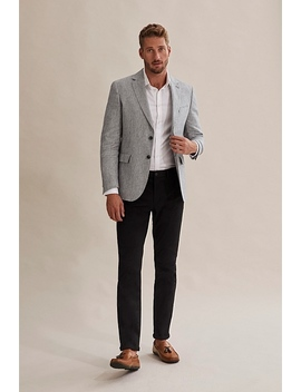 Regular Textured Linen Blazer by Country Road