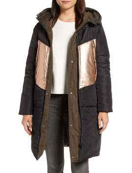 Reversible Down Pillow Parka by Andrew Marc