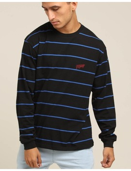 10 Deep S&F L/S Stripe Tee Black by 10 Deep