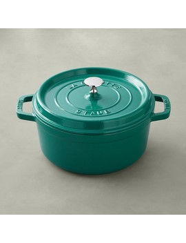 Staub Cast Iron Round Dutch Oven, 4 Qt.,Turquoise by Williams   Sonoma