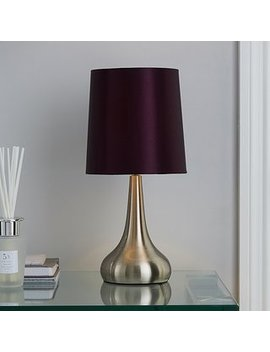Rimini Purple Touch Lamp by Dunelm