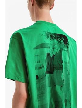 Raf Simons T Shirt Imprimé Dans Le Dos by Fred Perry