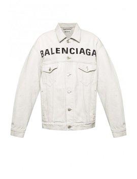 Branded Denim Jacket by Balenciaga
