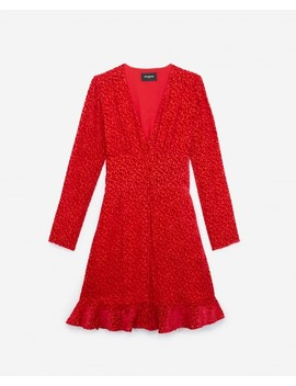 Short Buttoned Red Dress W/Smocking At Back by The Kooples