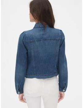 Icon Denim Puff Sleeve Jacket by Gap