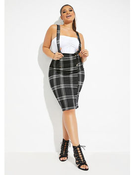 The Veronica Suspender Skirt by Ashley Stewart