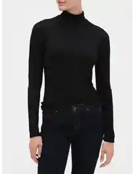 Ribbed Turtleneck T Shirt by Gap