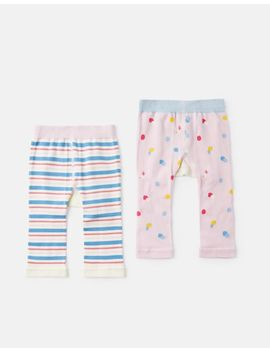 Lively 2 Pack Intarsia Legging by Joules