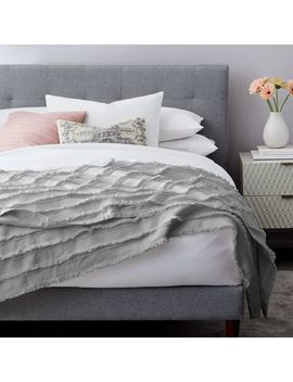 Fringe Blanket   Frost Gray by West Elm