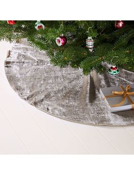 Lush Velvet Tree Skirt by West Elm