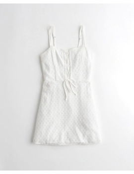 Lace Up A Line Dress by Hollister