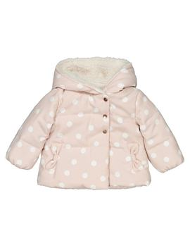 Padded Jacket With Hood And Polkadots 1 Month  3 Years by La Redoute Collections