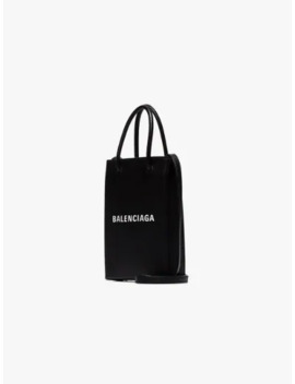 Black Shopping Phone Holder Bag by Balenciaga