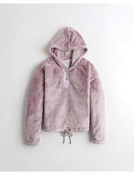 Cozy Half Zip Hoodie by Hollister