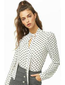 Crepe Polka Dot Shirt by Forever 21