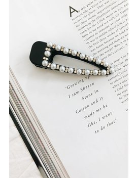 Five Stars Pearl Hair Clip // Black by Vergegirl