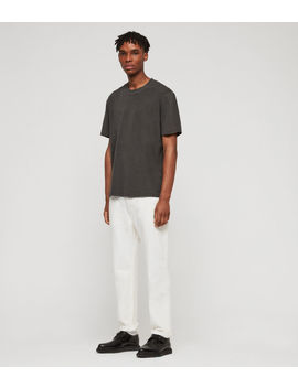 Ridge Tapered Jeans, Chalk by Allsaints