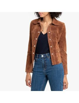Cropped Suede Jacket With Pockets by La Redoute Collections
