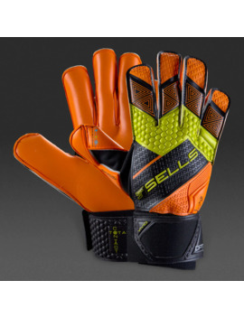 Sells Total Contact Detonate Excel Gk Gloves   Black/Yellow/Orange by Pro Direct Soccer