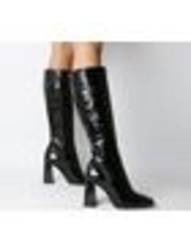 Koyote Square Toe Block Heel Knee Boots by Office