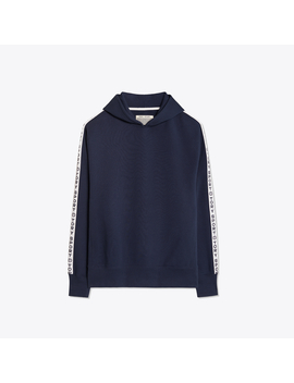 French Terry Banner Hoodie by Tory Burch