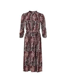 Zebra Print Pink Midi Dress by Olivar Bonas