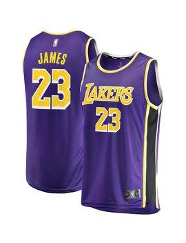 Le Bron James Los Angeles Lakers Fanatics Branded 2018/19 Fast Break Replica Jersey Purple   Statement Edition by Fanatics Branded