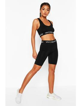 Fit Seamless Knit Woman Active Cycling Shorts by Boohoo