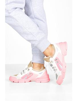 Lace Up Colourblock Hiker Trainers by Boohoo