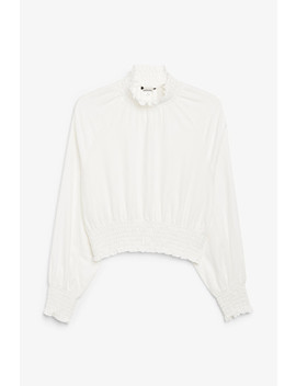 Long Sleeve Crop Top by Monki