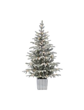 Potted Lightly Flocked Faux Tree by Pottery Barn