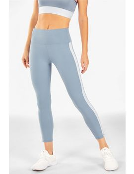 High Waisted Power Hold® Side Stripe 7/8 by Fabletics